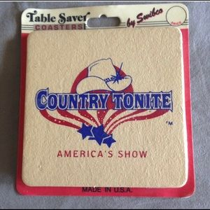 Country Tonite Coasters America's Show set 4 NEW